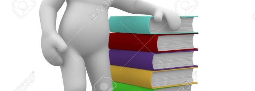 9034496-3D-charcater-humano-sentado-por-una-pila-de-libros-Foto-de-archivo